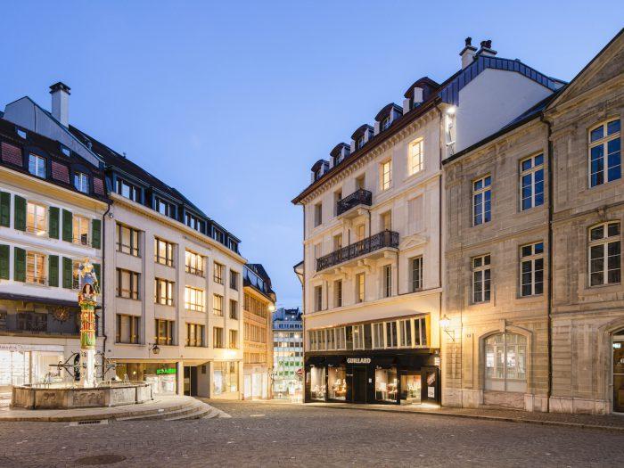 Rénovation complète de l'enveloppe d'un bâtiment protégé à Lausanne