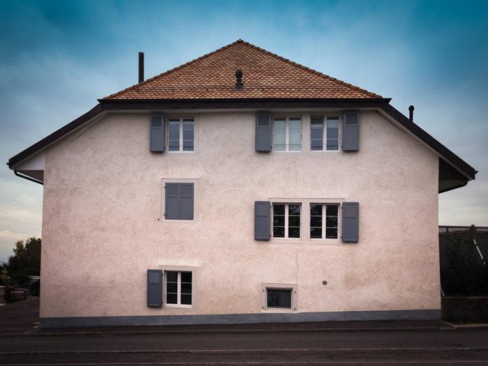 Création de 2 appartements dans un rural à Reverolle