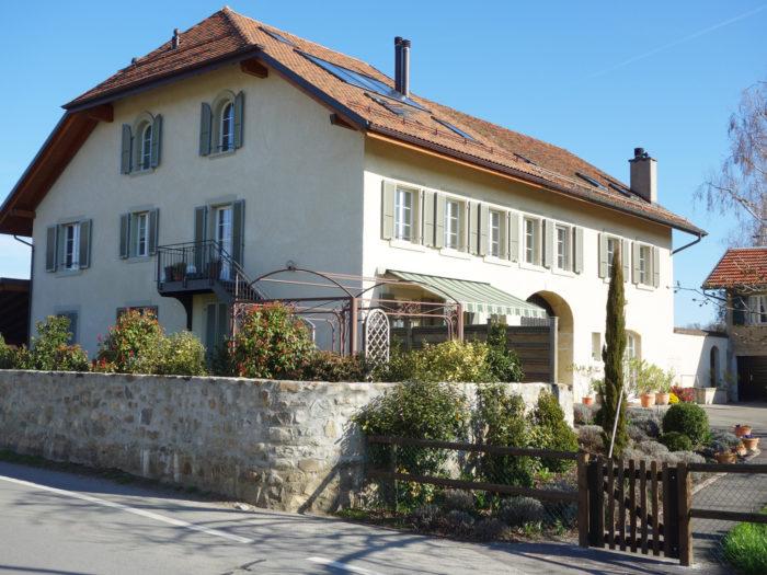 Création de 2 appartements dans une maison villageoise à Vufflens-le-Château