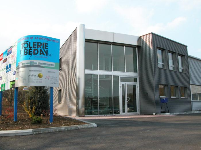 Bâtiment administratif et halle industrielle à Crissier